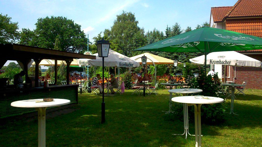 Biergarten von unseren Restaurant in Wienhausen (Landkreis Celle)