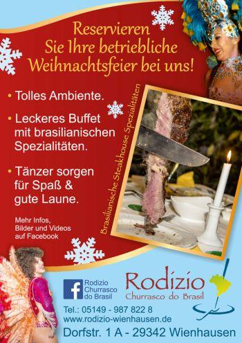Weihnachtsfeier 2019 im Rodizio Wienhausen im Landkreis Celle