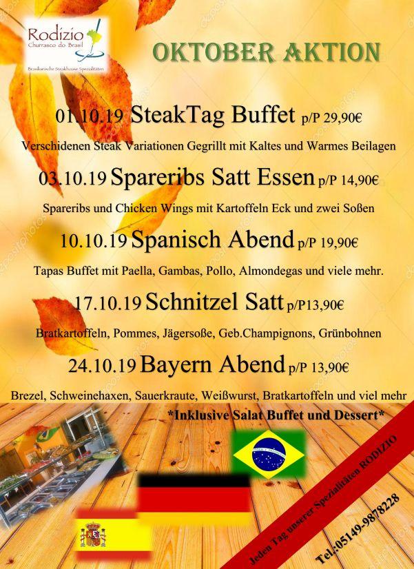 Oktober Aktionen in unserem Restaurant in Wienhausen