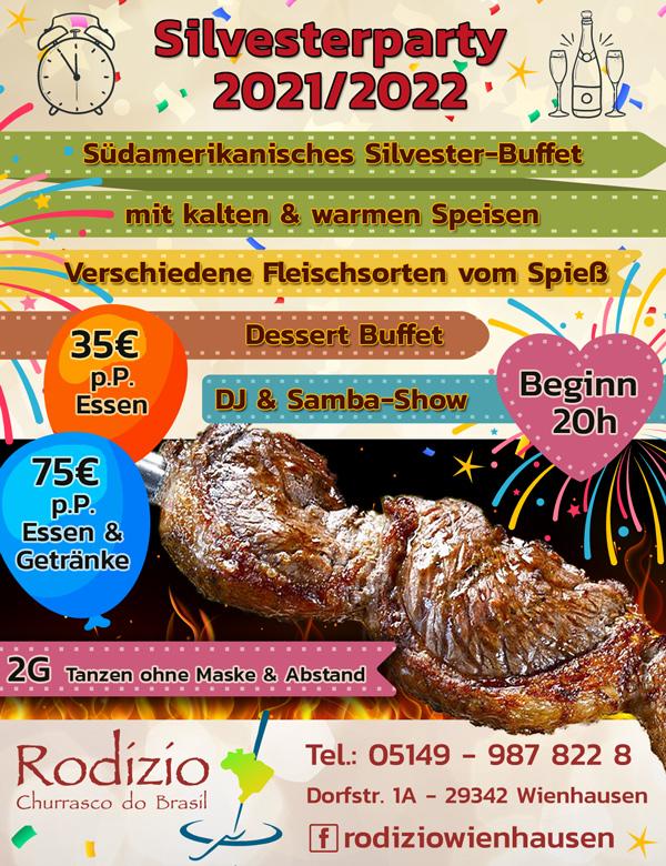 Silvesterparty 2021 im Rodizio Wienhausen